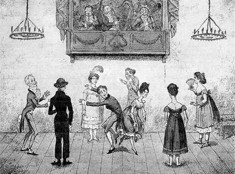 1817-accidents-in-quadrille-dancing Wikimedia Commons public domain