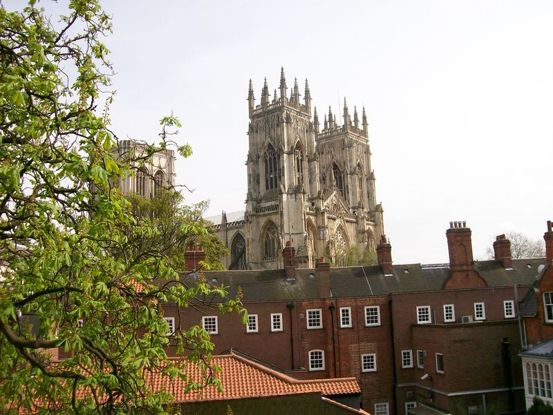 York Minster from city walls May 2008
